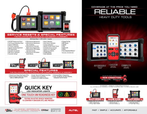 Autel Heavy Duty Tool Comparison Chart by Autel - issuu