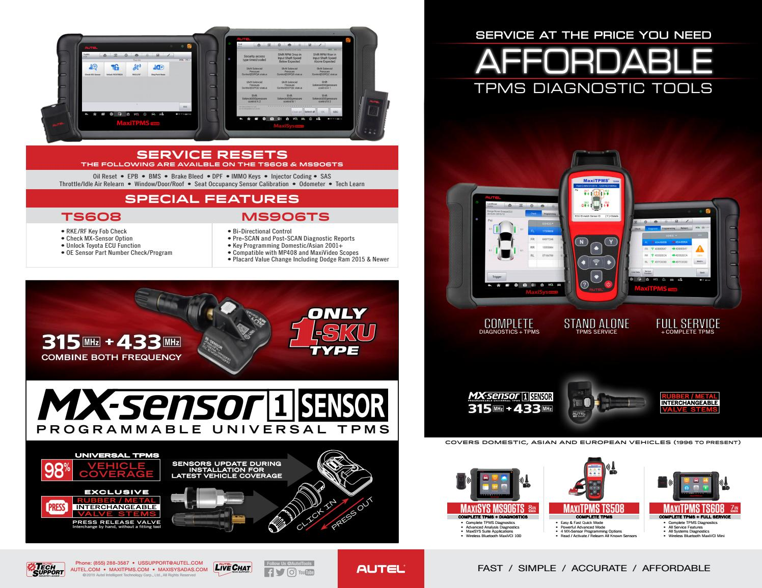 Autel TPMS Tool Comparison Chart by Autel - issuu