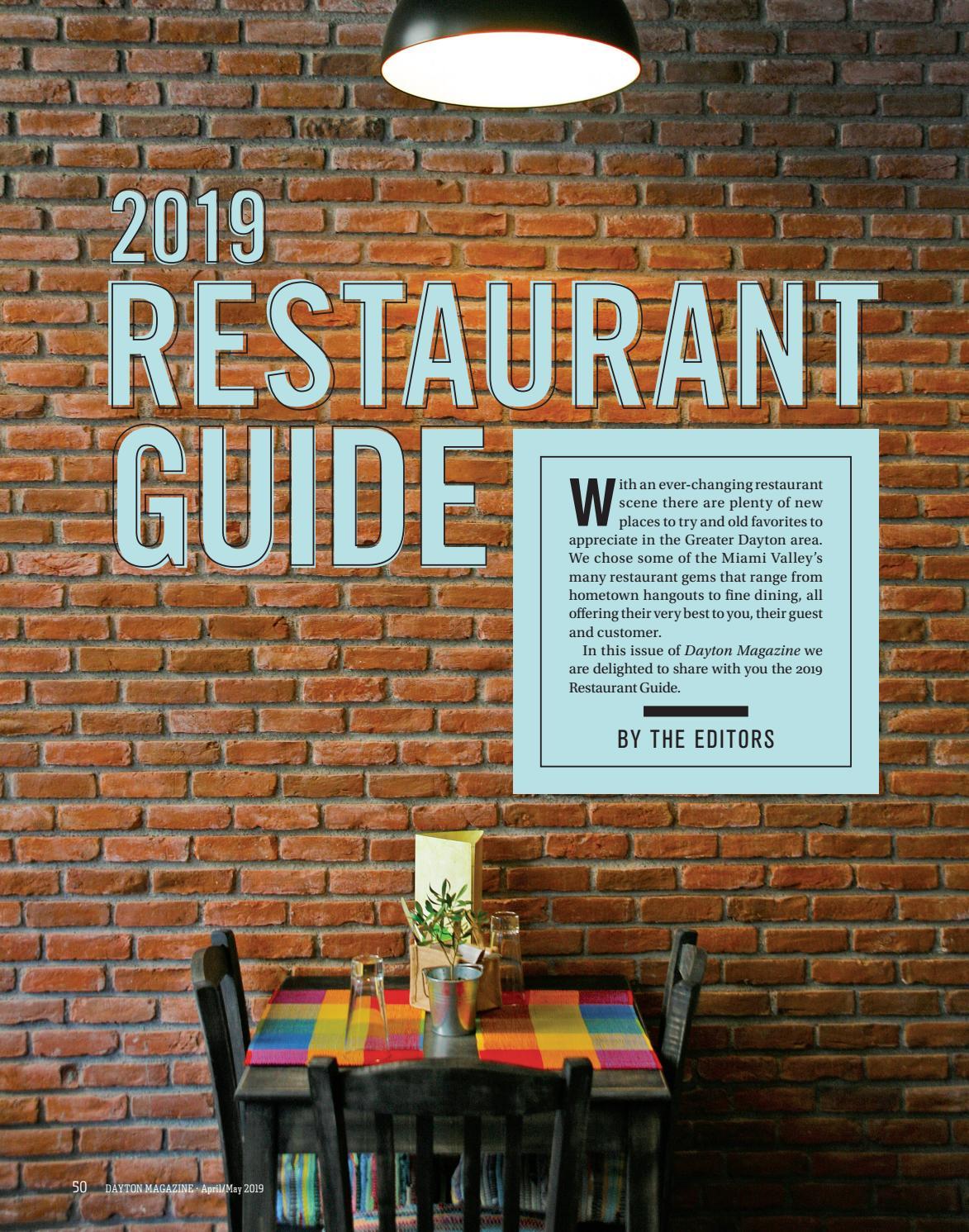 Stupendous Dayton Restaurant Guide 2019 By Cincy Magazine Issuu Download Free Architecture Designs Rallybritishbridgeorg
