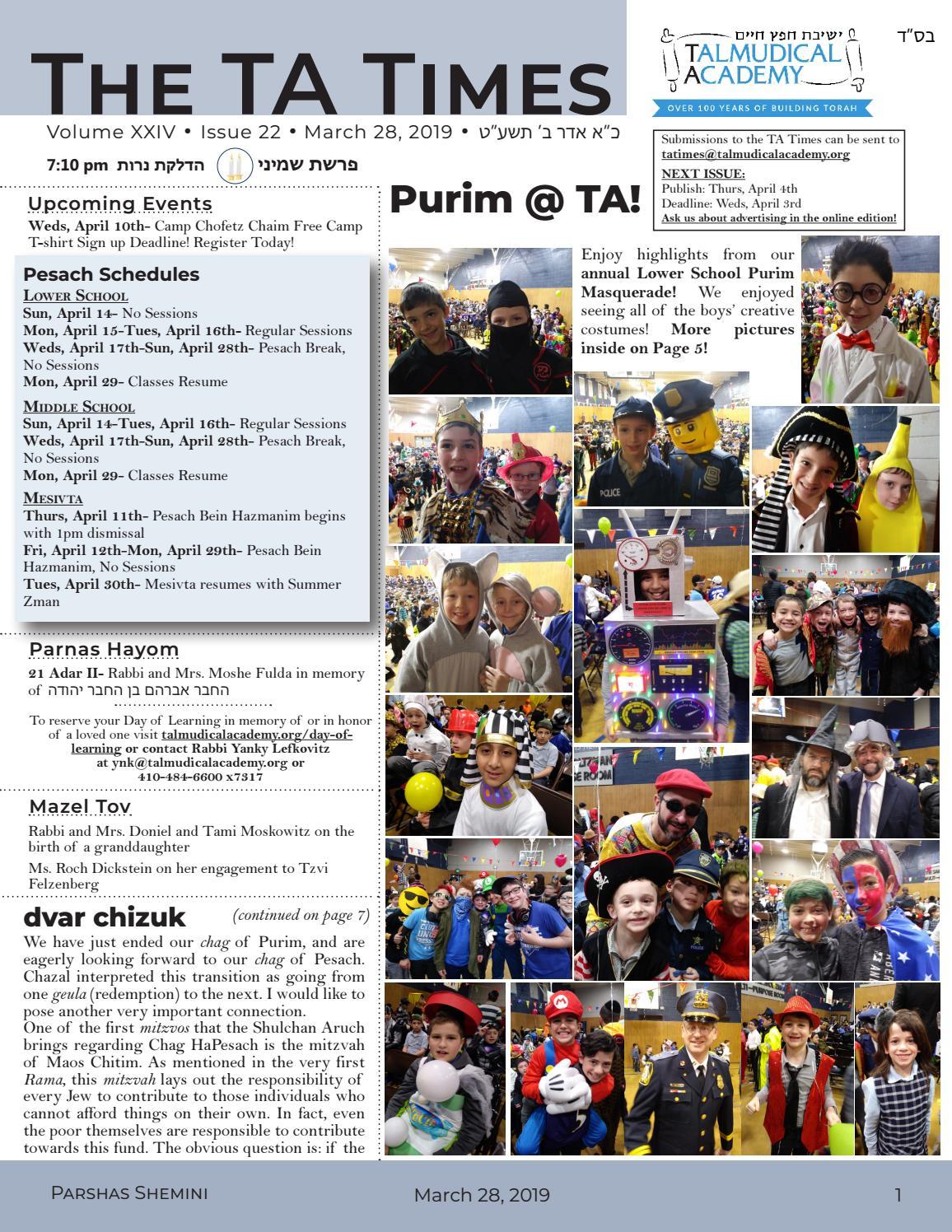 TA Times 10 22 by Yaakov Berkowitz - issuu