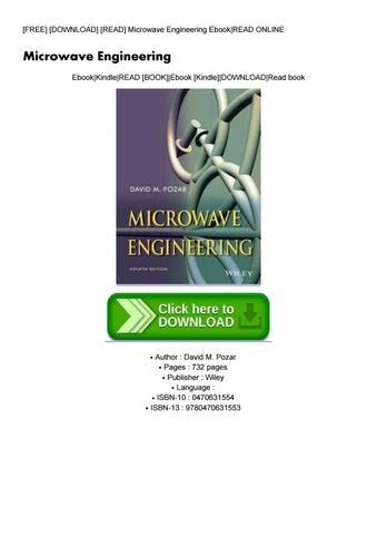 Pdf^ microwave engineering books.