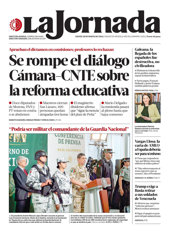 b1396636407 La Jornada, 03/28/2019 by La Jornada - issuu