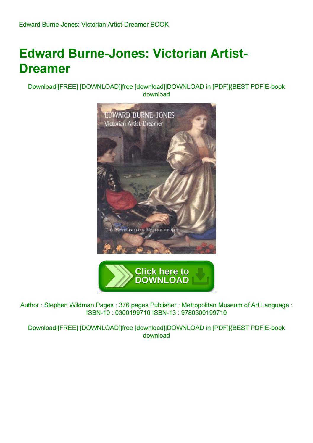 Victorian Artist-Dreamer Edward Burne-Jones