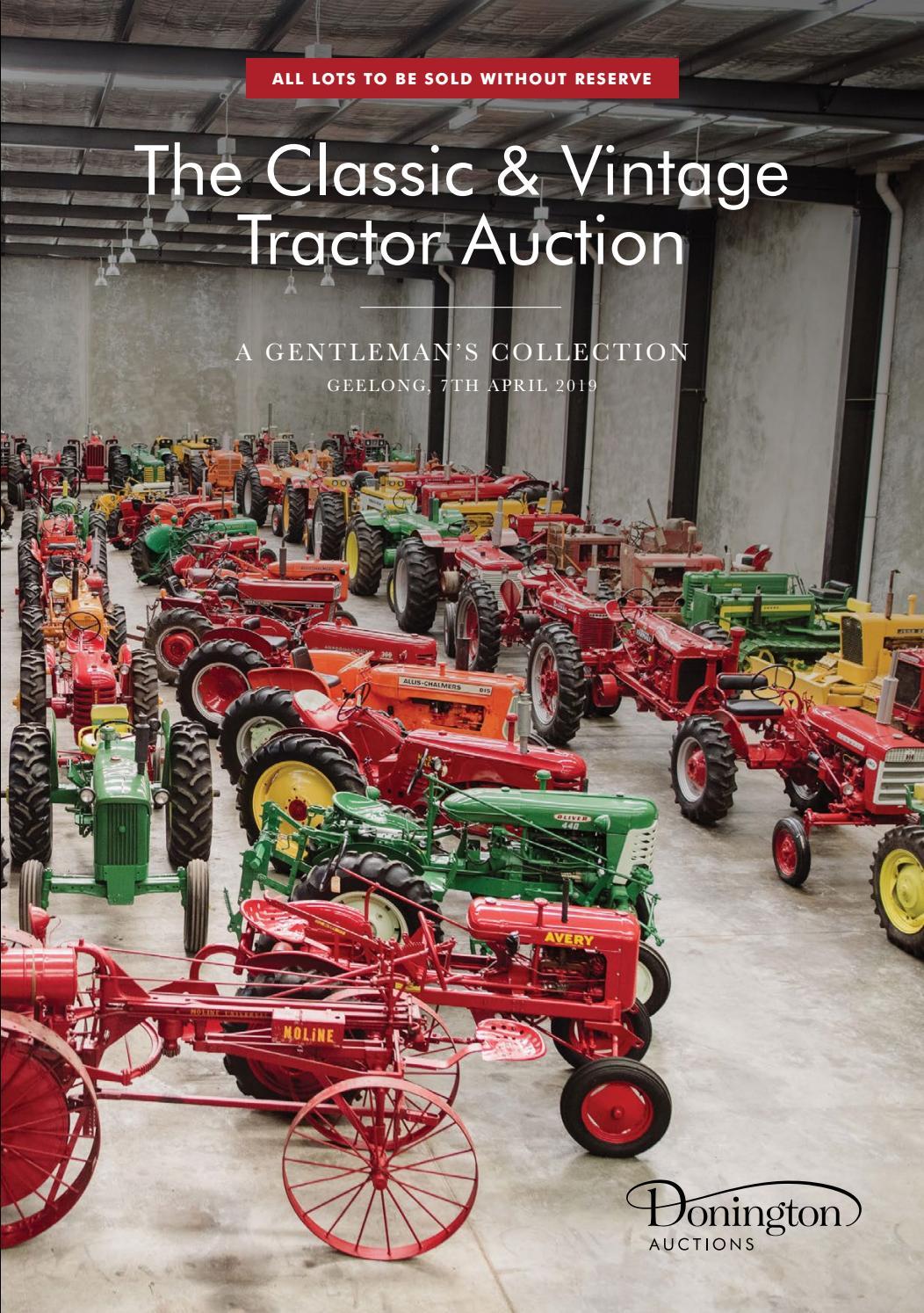 B H A 1940 New Metal Sign: Farmall Tractors w Lift All Cultivision Models M