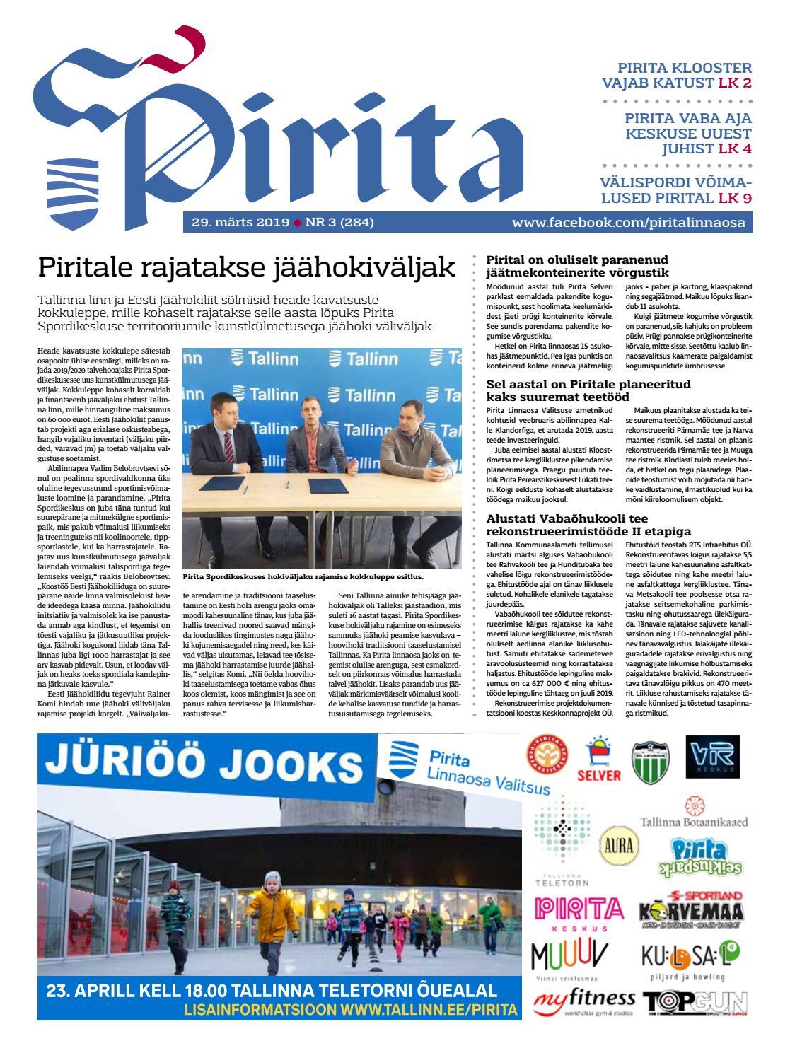ff753ef3a96 Pirita ajaleht 29. märts 2019 by Piritalinnaosavalitsus - issuu