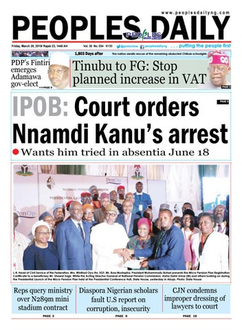 Friday, March 29, 2019 Edition by Peoples Media Limited - issuu