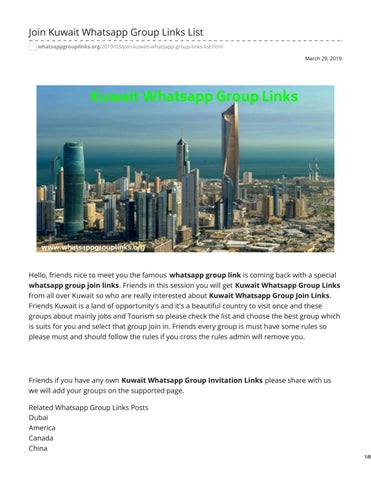 Join Kuwait Whatsapp Group Links List by whatsapp group