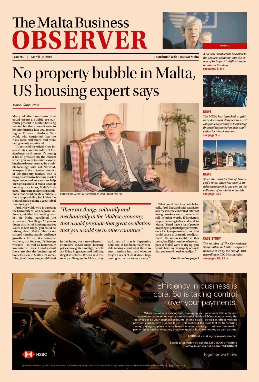 The Malta Business Observer, Thursday 28th March by Content