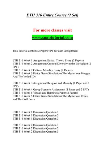 ETH 316 Enhance teaching / snaptutorial com by najiba147 - issuu