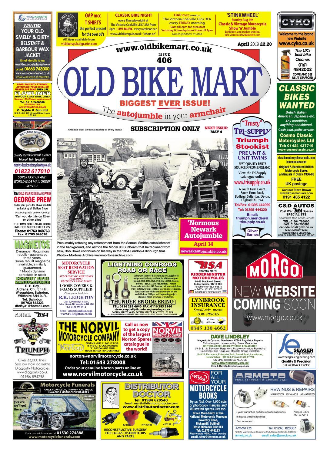 Old Bike Mart - April 2019 - Preview by Mortons Media Group