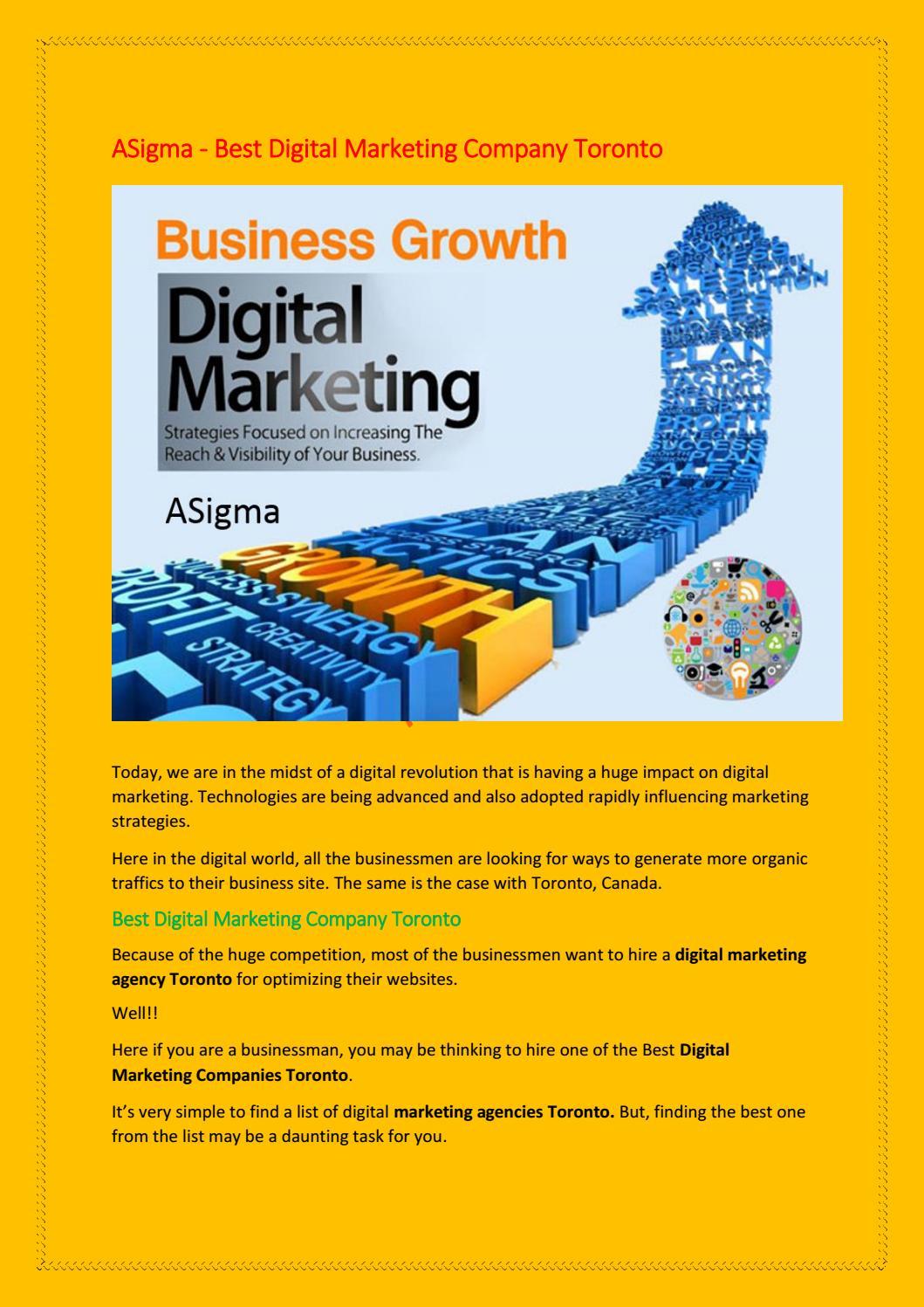 ASigma - Best Digital Marketing Company Toronto by Asigma Toronto