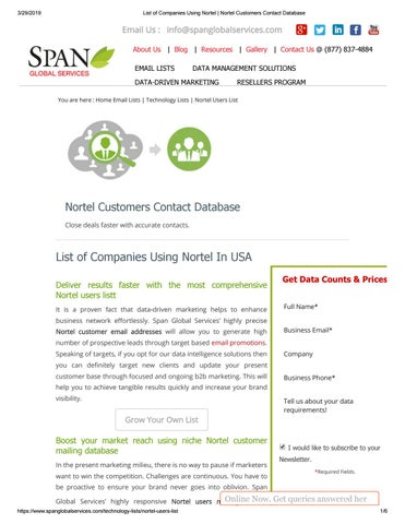 List of Companies Using Nortel by ariaweston112 - issuu