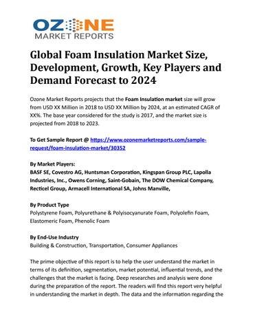 Global Foam Insulation Market Size, Development, Growth, Key