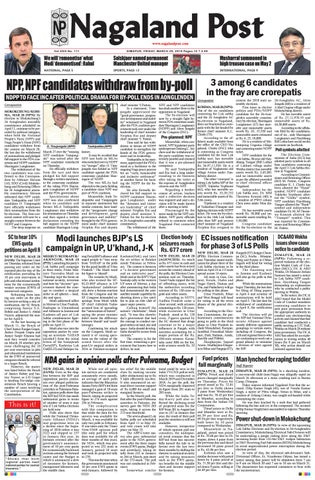 March 29, 2019 by Nagaland Post - issuu