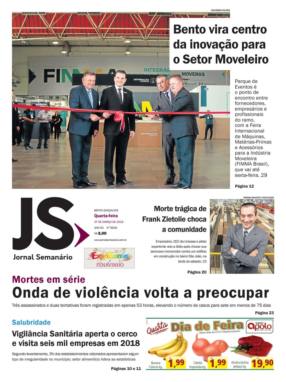 ffd7500676 Jornal Semanário – 27 de março de 2019 – ano 52 – nº 3526 by Jornal  Semanário - Bento Gonçalves - RS - issuu