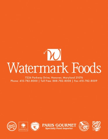 Page 1 of Watermark Foods - 2019 Catalog