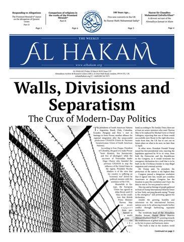Al Hakam - 29 March 2019 by Alhakam - issuu