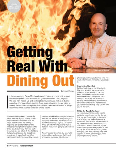 Page 34 of Health & Wellness Spotlight: Getting Real with Dining Out
