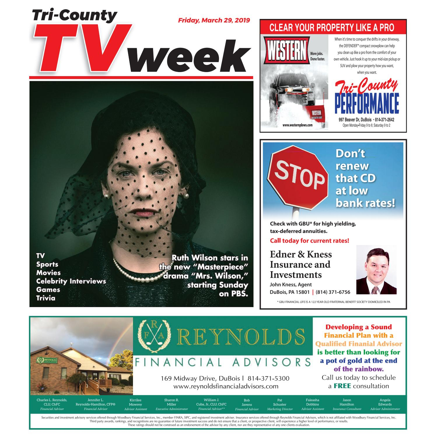 4c8d815d3 TV Week, Friday, March 29, 2019 by Tri-County TV Week - issuu