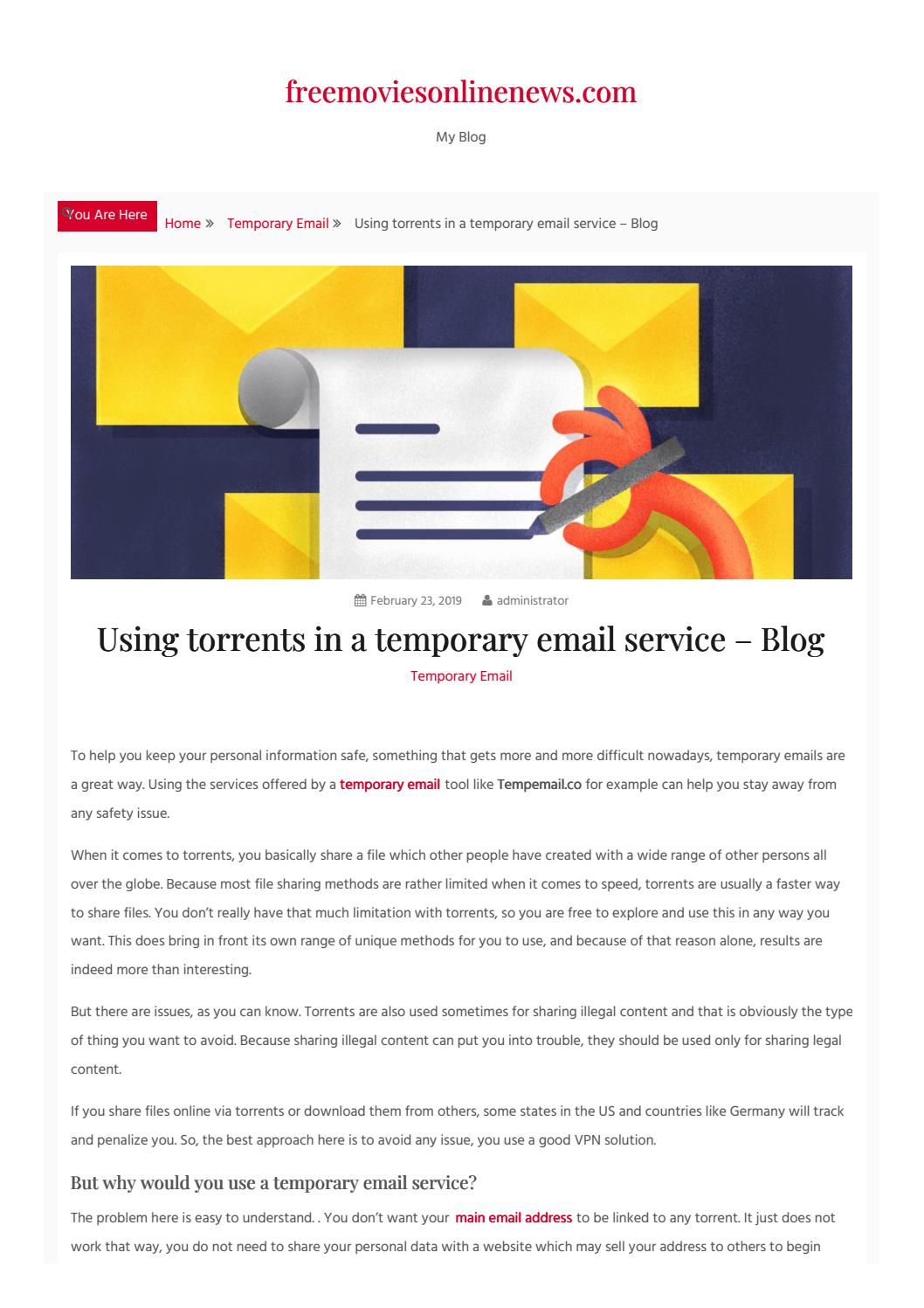 Using torrents in a temporary email service – Blog by