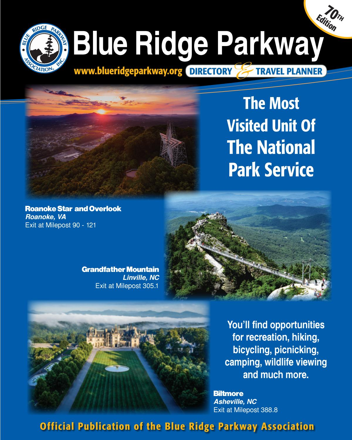 Blue Ridge Parkway Directory & Travel Planner - 70th ...
