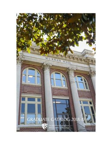 Millsaps College Graduate Catalog 2018-2019