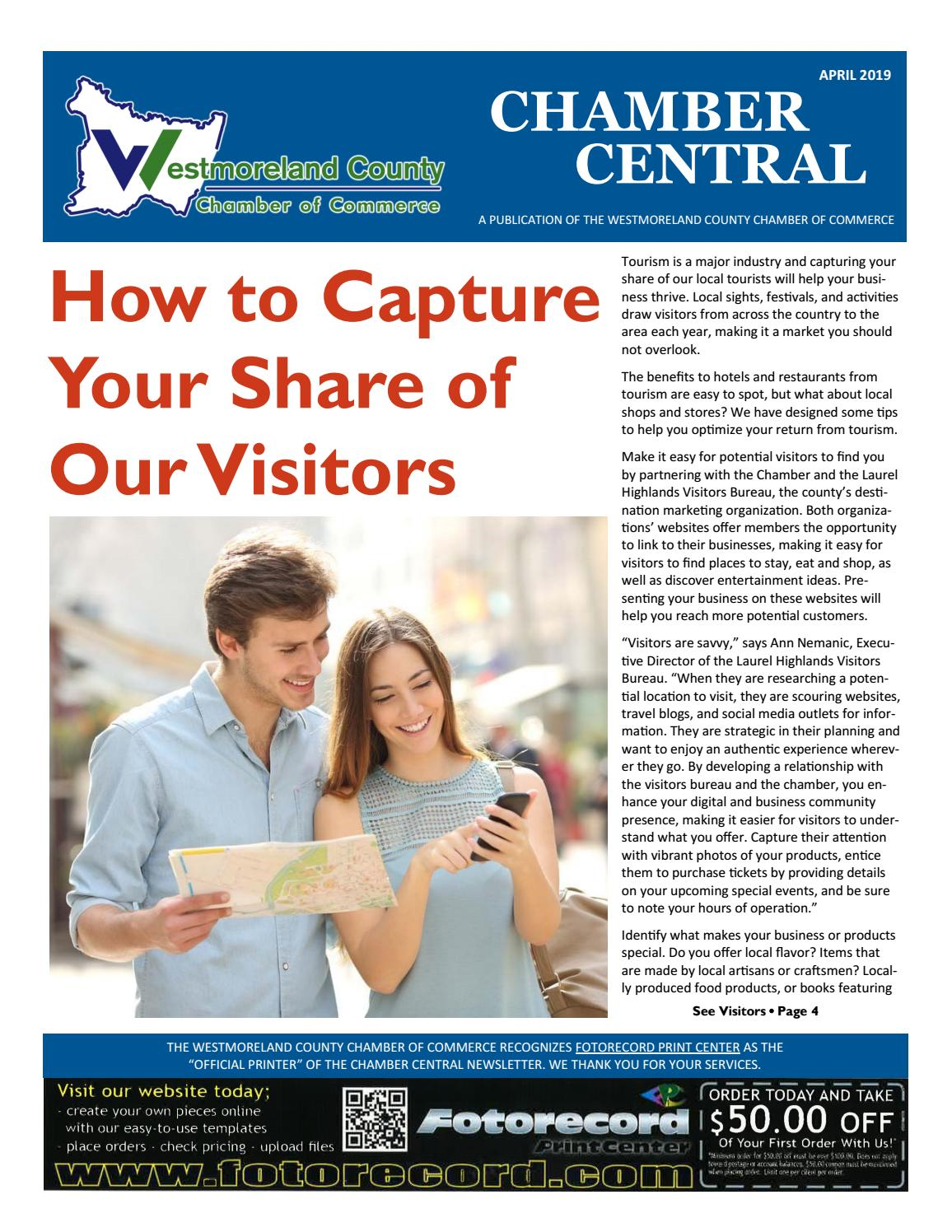 Chamber Central Newsletter April 2019 by Westmoreland County