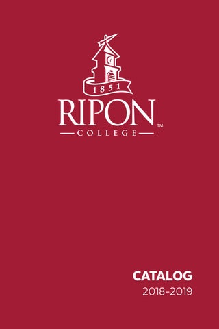 more photos 39605 b54d1 Ripon College Catalog 2018-2019 by Ripon College - issuu