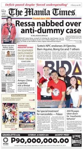 THE MANILA TIMES | MARCH 30, 2019 by The Manila Times - issuu