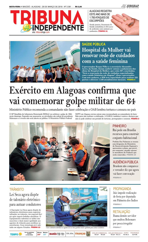 bba47678c Edição número 3361 – 29 de março de 2019 by Tribuna Hoje - issuu