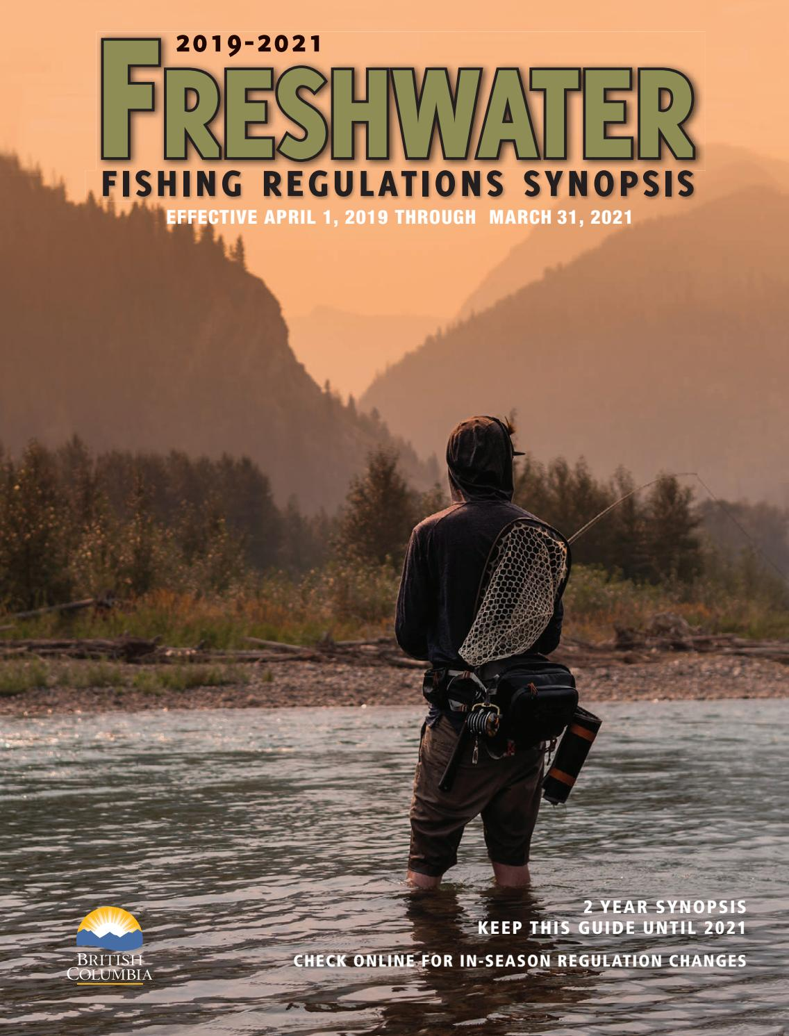 Special Features - Freshwater Fishing Regulations Synopsis
