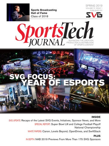 SVG SportsTech Journal Spring 2019 by Sports Video Group - issuu