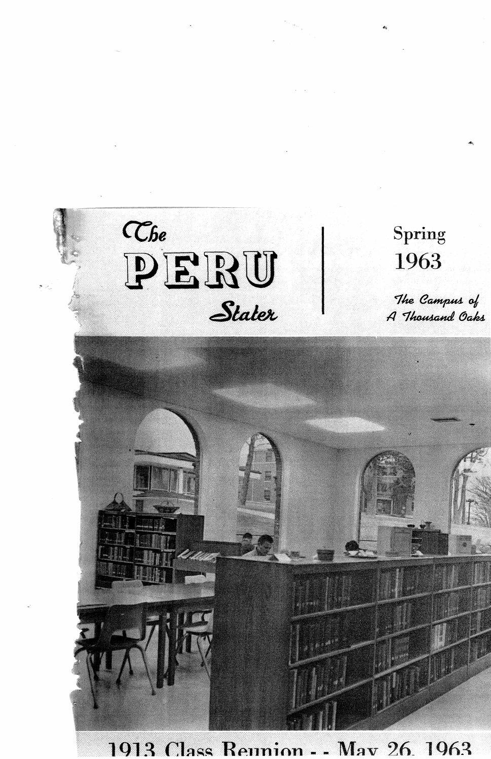 1963 The Peru Stater Nebraska By Peru State College