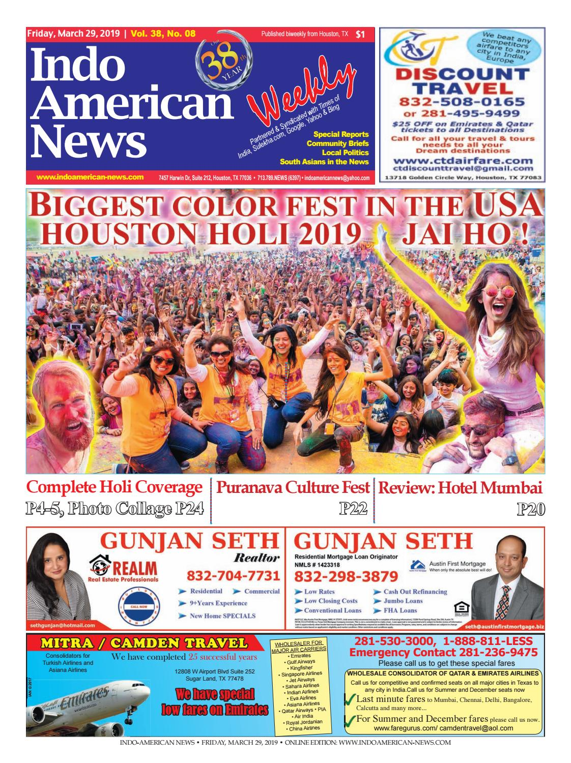 Indo-American News March 29, 2019 by Indo American News - issuu