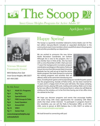 Scoop: Active Adults 55+ April-June 2019 Newsletter by City