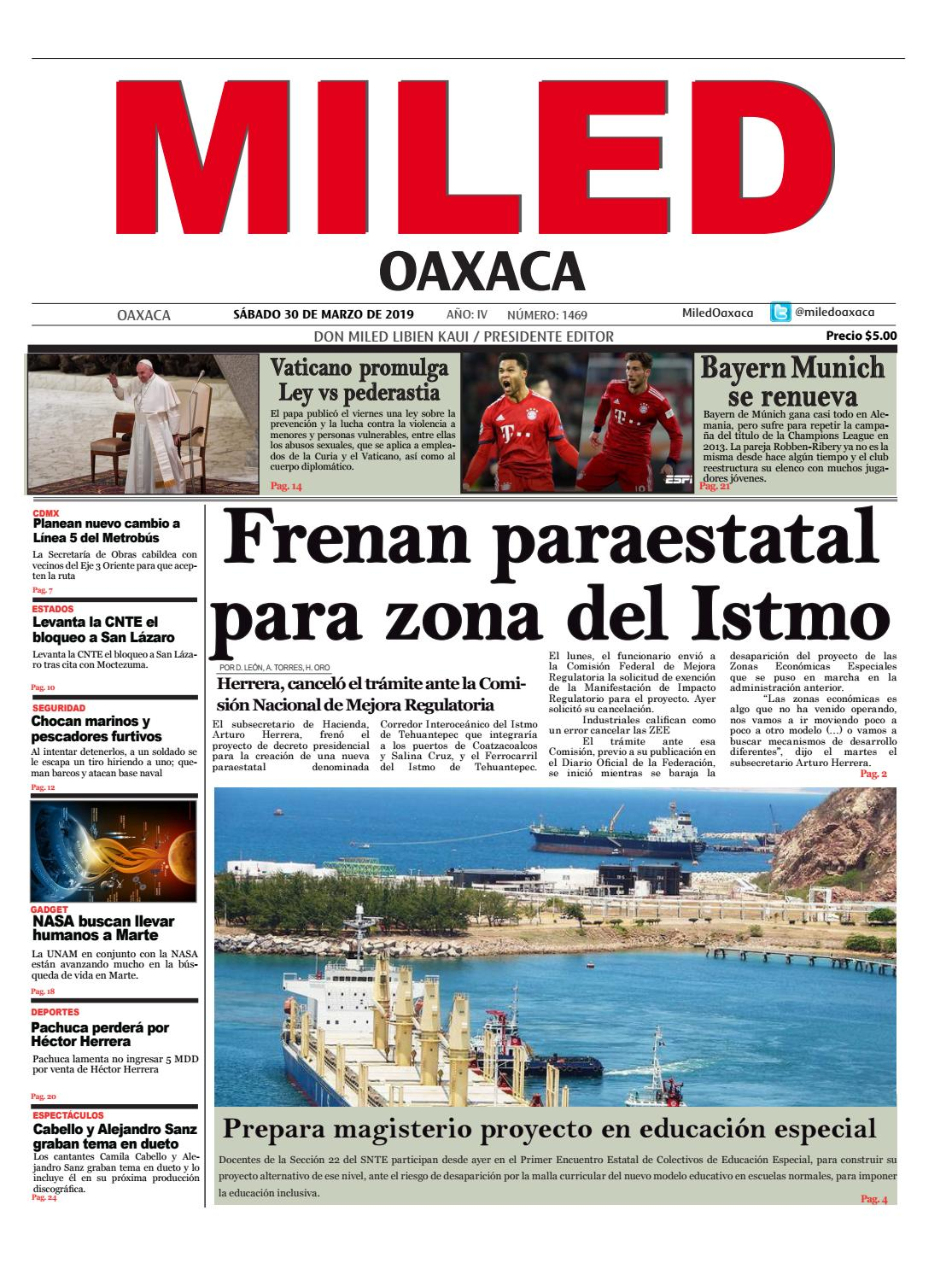 Miled Oaxaca 30-03-2019 by Miled Estados - issuu
