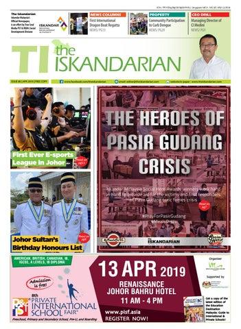 dfe49ab09a0 The Iskandarian E-Paper April 2019 by The Iskandarian-WAVES ...