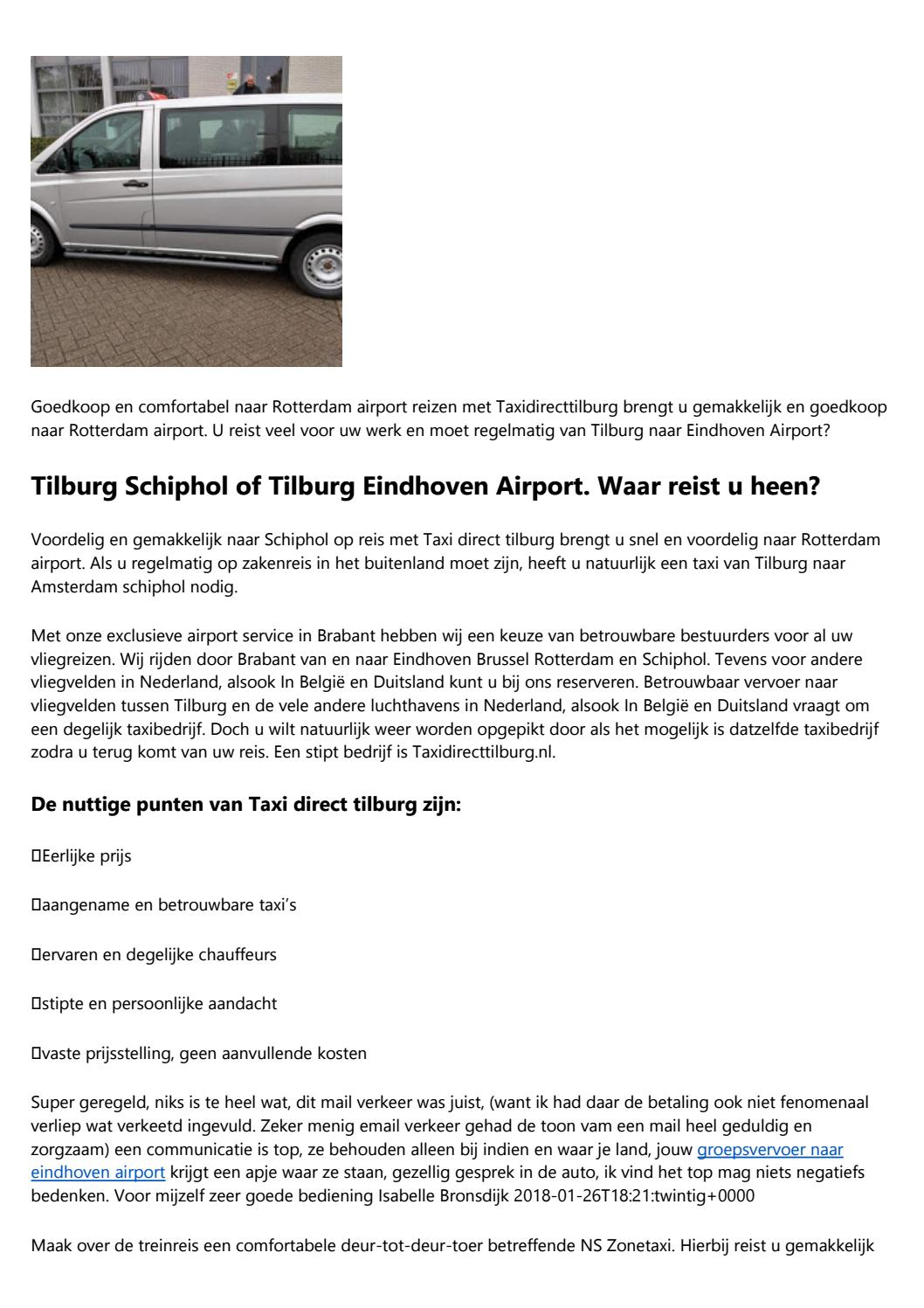 Betrouwbare Taxi Service Informatie