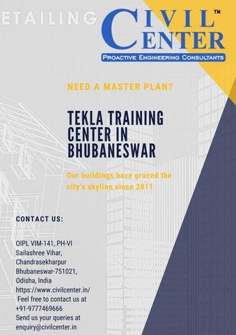 Tekla Training Center in Bhubaneswar by Civil Center - issuu