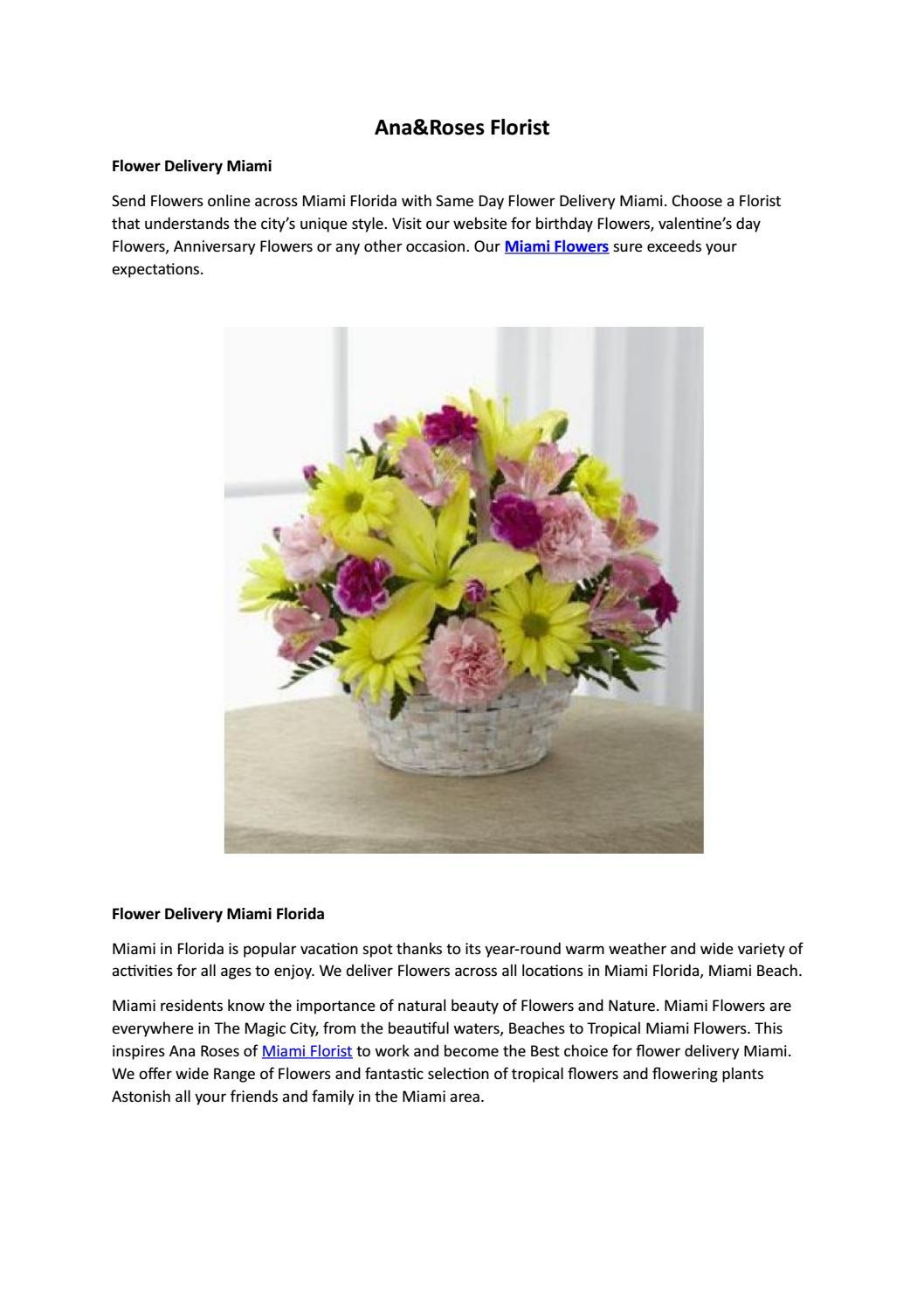 Florist Miami Miami Flower Delivery Ana Florist Miami By
