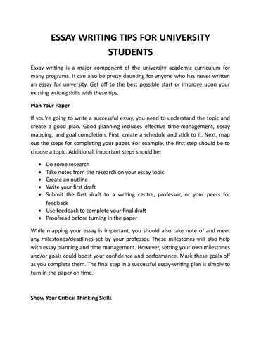 Essays On English Literature  Help With Essay Papers also Thesis Statement For Persuasive Essay Essay Writing Tips For University Students By Eleven  Issuu Importance Of English Essay