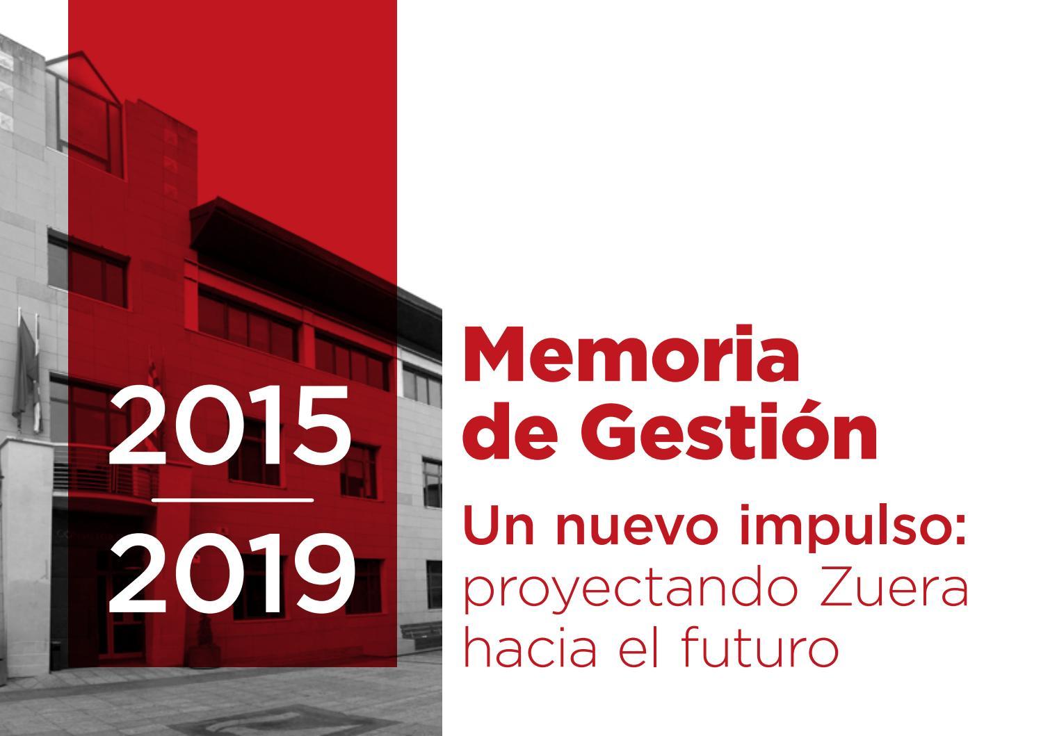 Ayuntamiento De Zuera Memoria De Gestión 2015 2019 By