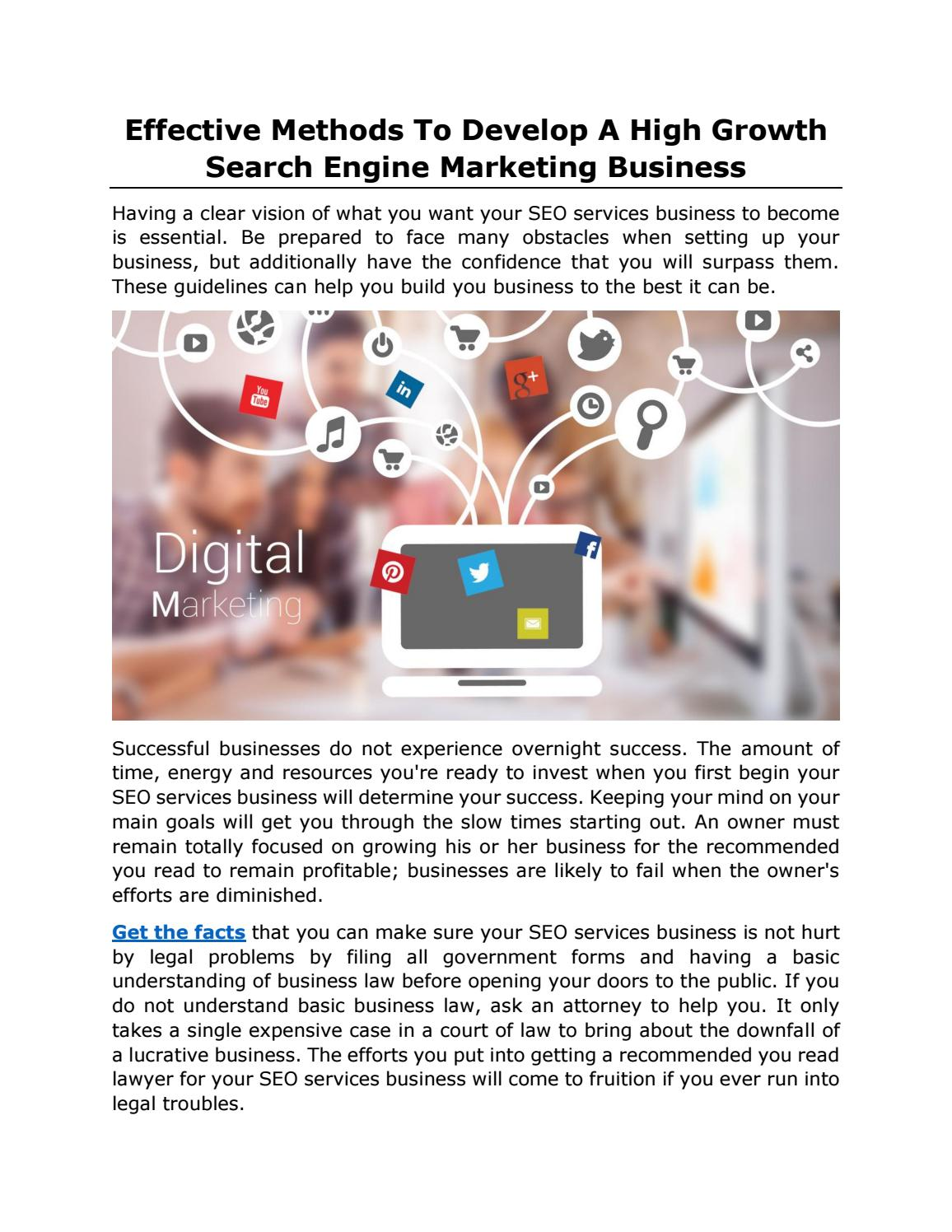 Effective Methods To Develop A High Growth Search Engine