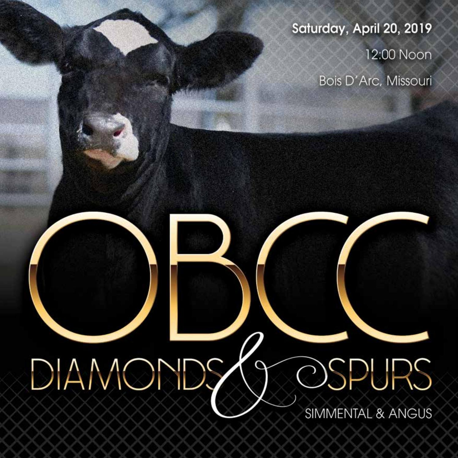 2019 OBCC Diamonds And Spurs Sale by Eberspacher Enterprises - issuu
