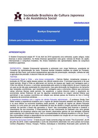 2ada0aa81 Boletim Bunkyo Empresarial -  15 - março 2019 by Bunkyo     Cultura ...
