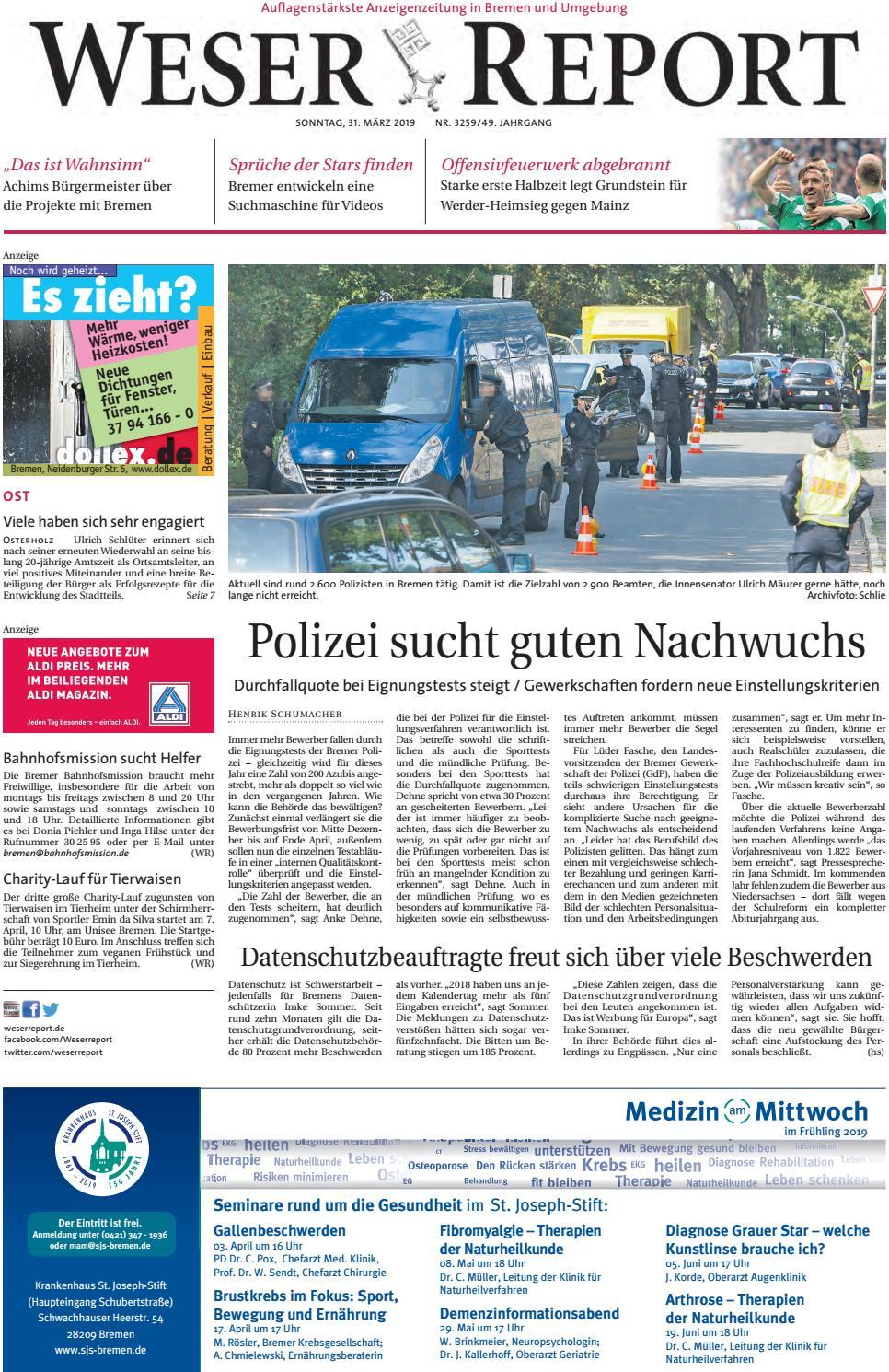 Weser Report - Ost vom 31.03.2019 by KPS Verlagsgesellschaft mbH ...