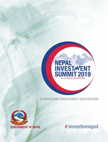 Event Brochure-NIS2019 by Nepal Investment Summit 2019 - issuu