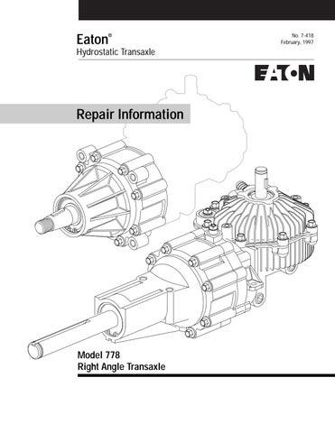 Eaton 778 Transaxle Repair Info by kingcatparts - issuu