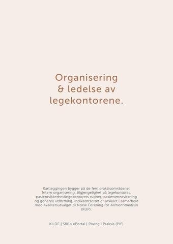 Page 18 of Organisering & ledelse av legekontorene.