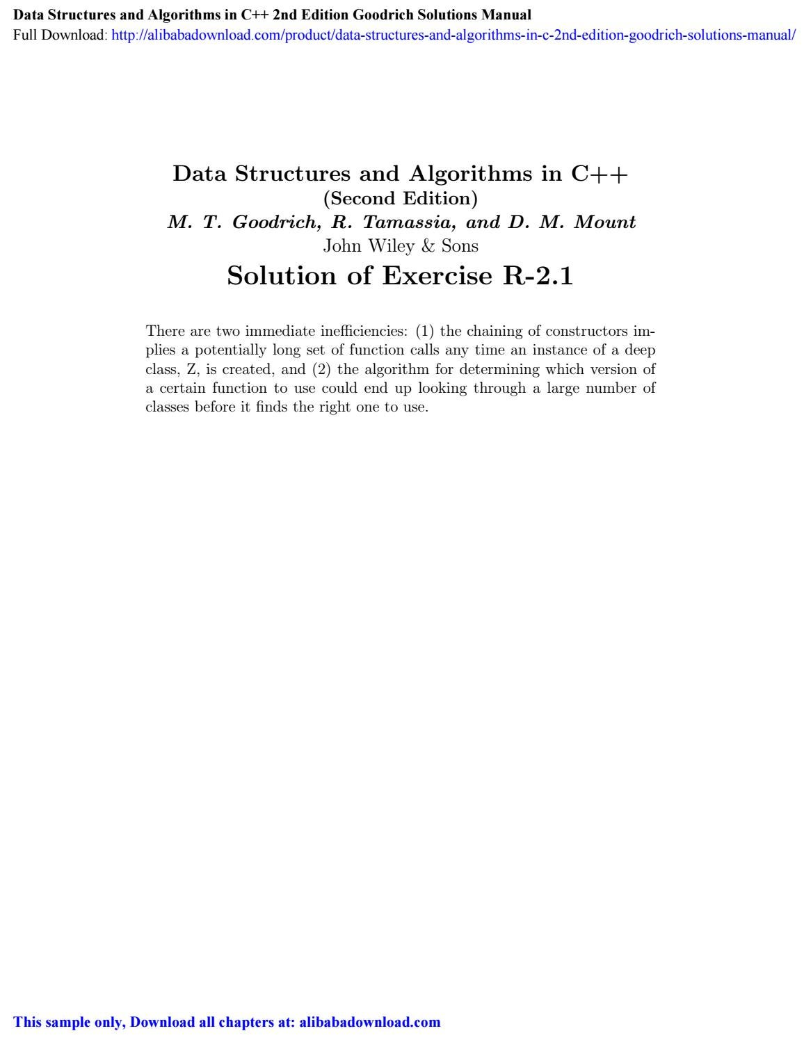 Data Structures And Algorithms In C 2nd Edition Goodrich Solutions Manual By Coleman Issuu,Minimalist Kitchen Design Black
